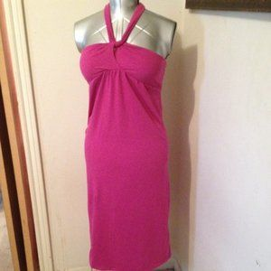 Pink Strapless or Halter Dress or swimsuit coverup